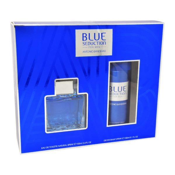 Z4 SET BLUE SEDUCTION FOR MEN 2PZS 100ML EDT SPRAY/ DESODORANTE 150ML SPRAY