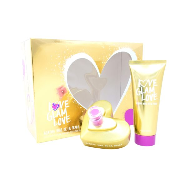 Z4 SET AGATHA LOVE GLAM LOVE 2PZS 80ML EDT SPRAY/ BODY LOTION 75ML
