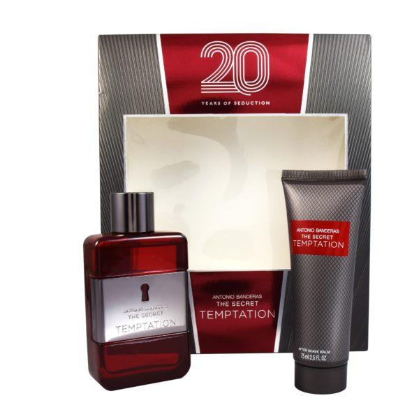 Z4 SET THE SECRET TEMPTATION MEN 20 YEARS 2PZS 100ML EDT SPRAY/ AFTER SHAVE 75ML