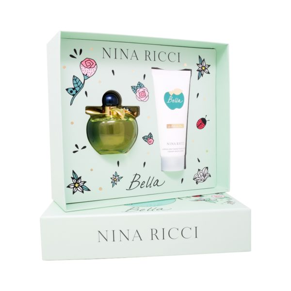 Z4 SET NINA RICCI BELLA 2PZS  80ML EDT SPRAY/ BODY LOTION 100ML