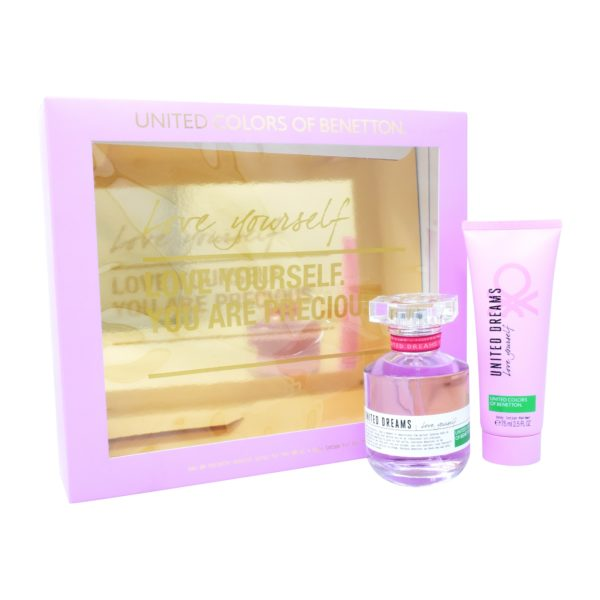 Z4 SET UNITED DREAMS LOVE YOURSELF 2PZS 80ML EDT SPRAY/ BODY LOTION 75ML