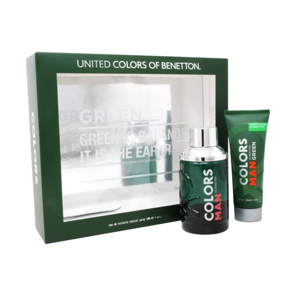 Z4 SET COLORS GREEN MAN 2PZS 100ML EDT SPRAY/ AFTER SHAVE 75ML