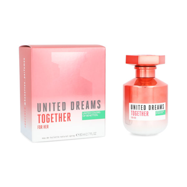 BENETTON UNITED DREAMS TOGETHER 80ML HER EDT SPRAY