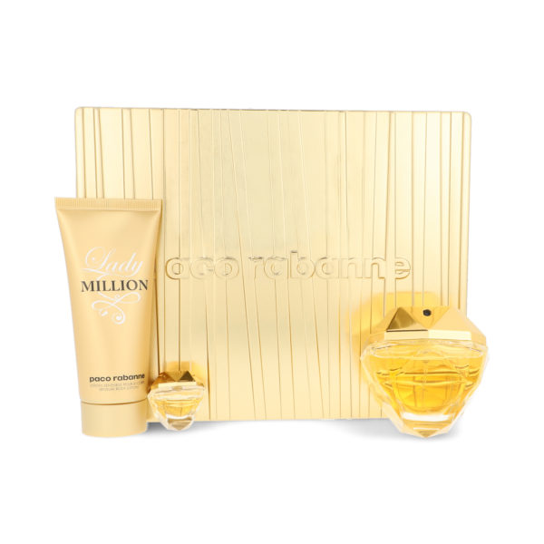 Z4 SET LADY MILLION 3PZS 80ML EDP SPRAY BODY LOTION 100ML/ 5ML EDP SPRAY