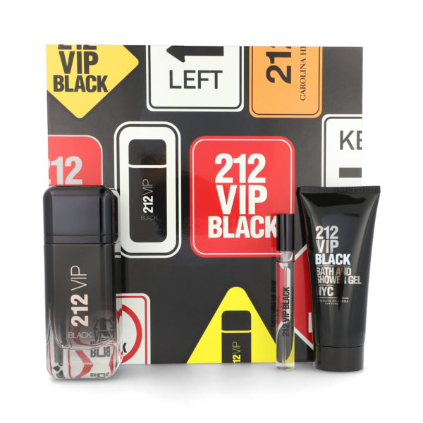 Z4 SET 212 VIP BLACK 100ML EDT SPRAY/ AFTER SHAVE 100ML/ 10ML EDT SPRAY
