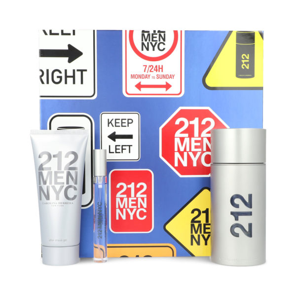 Z4 SET 212 MEN 3PZS 100ML EDT SPRAY/ AFTER SHAVE 100ML/ 10ML EDT SPRAY