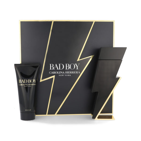Z4 SET CAROLINA HERRERA BAD BOY 2PZS 100ML EDT SPRAY/ SHOWER GEL 100ML