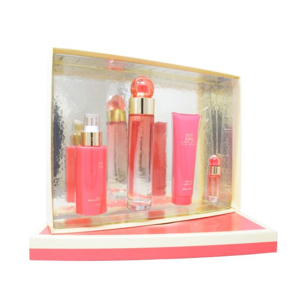 Z4 SET 360° CORAL 4PZS 100ML EDP SPRAY/ SHOWER 90ML/ BODY MIST 118ML SPRAY/ 7.5ML EDP SPRAY