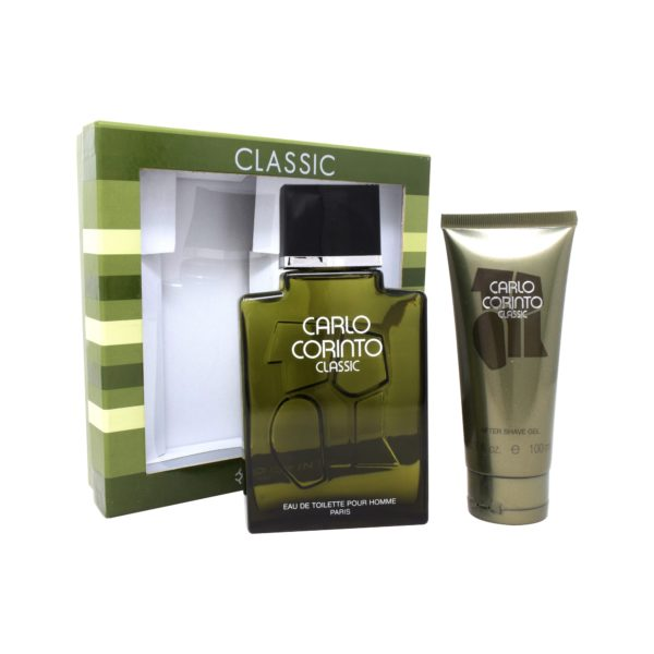 Z4 SET CARLO CORINTO CLASSIC 2PZS 400ML EDT SPRAY/ AFTER SHAVE 100ML