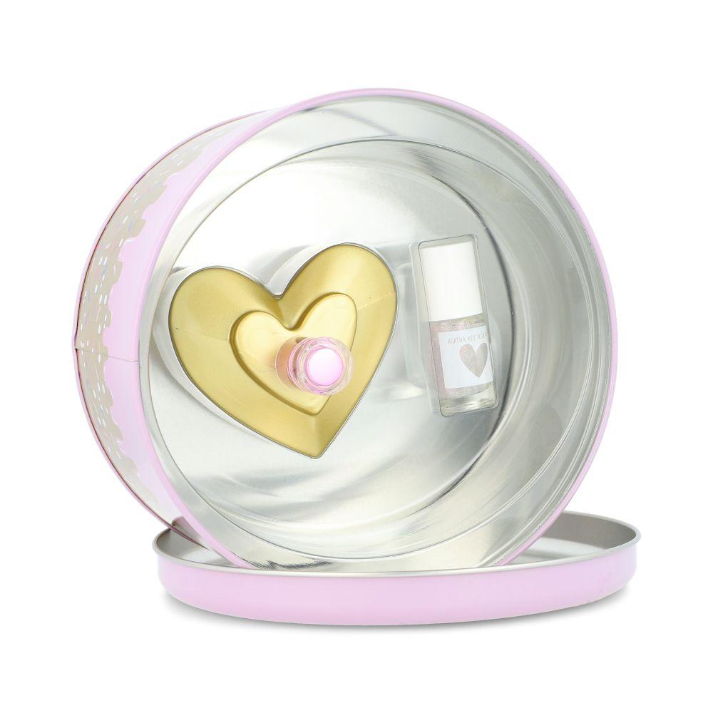 SET AGATHA LOVE GLAM LOVE 2PZS 80ML EDT SPRAY/ ESMALTE DE UÑAS 6ML